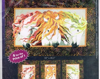 Horse Head Wall Hanging Quilt Sewing Pattern - Animal Quilt Pattern - Earth Wind & Fire - Bigfork Bay