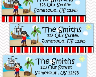 Pirate Boy - Personalized Address labels, Stickers