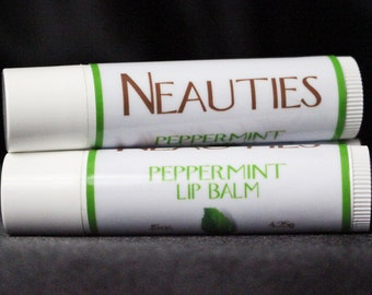 Natural Lip Balm // Peppermint Flavor - BEST SELLER! // The World's Most Loved Lip Balm! // Neauties Premium Lip Products