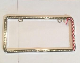Christmas  Blinged License Plate Frame , Christmas License Plate Frame
