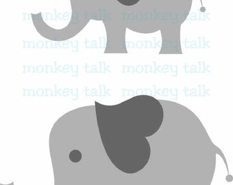 Elephant Baby Instant Download Includes svg, eps, pdf and jpg File Types Clip Art