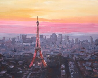 Paris Eiffel Tower at Dusk - Limited Edition Fine Art Print