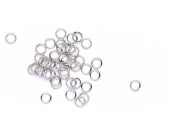 Antique Silver 5mm Jump Rings - Jump Rings - Jewellery Findings - Jewellery Supplies