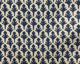 Ponce marine blue Lacefield  home decor multipurpose fabric