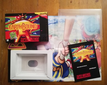 """""""Earthbound"""" SNES - 100% complete collection in french"""