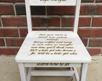 Girls Time Out Chair Toddler Time Out Chair Wood Burned With Sand Timer Time  Out Chair.
