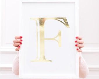 Art Print Your Golden Letter