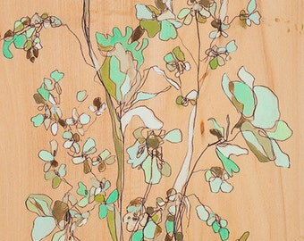 Irvington Mint Floral Canvas Print by Jennifer Mercede 24X12