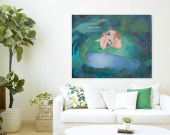 large painting on canvas / figurative painting / contemporary art