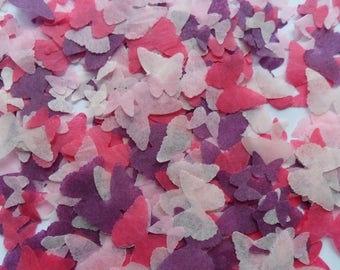 Sweet Pea Pink and Purple Mix Biodegradable Tissue Paper Butterfly Confetti Wedding Party