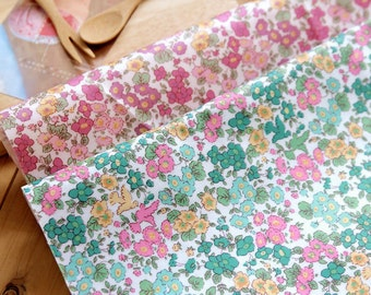 Laminated Cotton Fabric - Garden Flowers - Green or Purple - By the Yard 56604