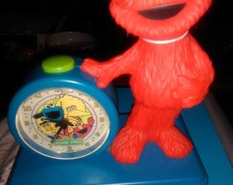 Old sesame Street Elmo clock