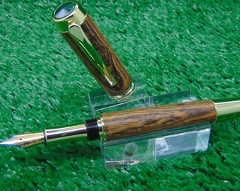 Handmade fountain pen in Mexican Bocote wood
