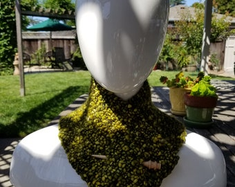 Versatile Neckwarmer- Chartreuse Green/Yellow