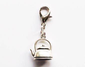 Tea Kettle Progress Keeper/Zipper Pull/Stitch Marker/Mini Stitch Marker Holder/Bag Charm/Dangle Charm