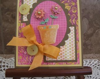 Flower Pot Handmade Card
