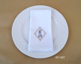Embroidered Napkins, Personalized Napkins, Custom Napkins, Monogrammed Napkins, Party Napkins, Elegant Napkins, Dinner Napkins