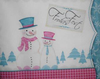 105 snow snowman paper towel
