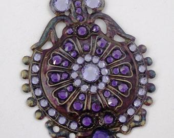 Vintagey Purple Dangle Earrings