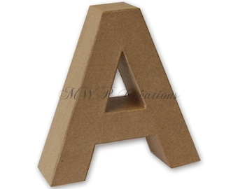 "Letter 3D ""A"" to ""I"" (cardboard/paper mache) to customize"