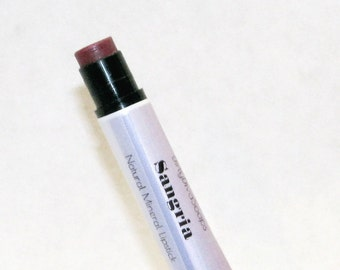 Natural Mineral Lipstick ,Sangria , Matte Lip  Color with a Hint of Shine In a Conditioning Lip Balm