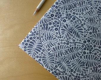 ORGANIC Dem Bones Tombstone Vine Warm Black/Grey & Cream Sarah Watson Cloud 9 - Half Yard - Modern Quilting Sewing Craft Cotton Fabric
