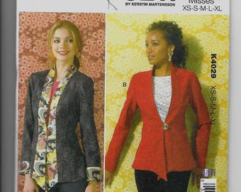 K4029 Kwik Sew Women's Jackets Sewing Pattern Sizes XS-XL