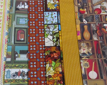 Wonderfully Kitsch 70's Gift Wrap ~ All Occasion ~ Nostalgic ~ Some Masculine ~ Stained Glass