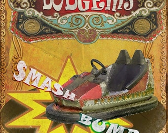 The Dodgem Ride  Vintage Retro Style  Funfair Circus Metal Sign Home Decor Mancave: 3 Sizes To Choose From