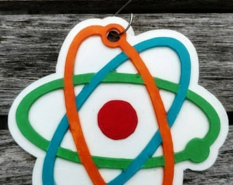 Atom Ornament | Atomic | Science Ornament | Science Geek | Science Nerd | Science Teacher | Teacher Gift | Science Gift | Chemistry Gifts