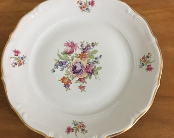 Rose Garden Fine Porcelain Dinner Plate