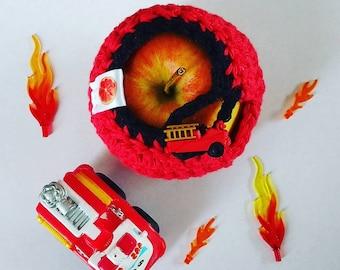 Apple cozy Fruit cozy Handmade Crochet - apple cosy - Lunch bag buddy-  transport