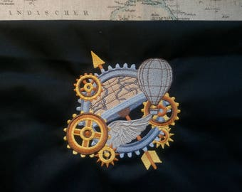 Steampunk Inspired Embroidery Apron