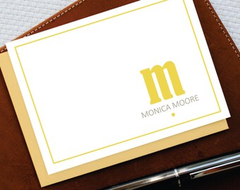 Personalized Stationery,Personalized Stationary,MODERN MONOGRAMMED Notecards,Custom Note Cards,Monogram Stationery Set,Gift for Niece,MNC010