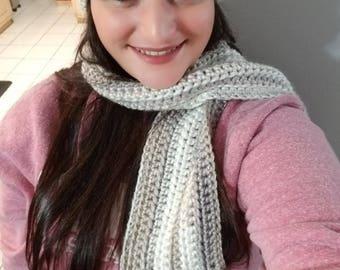 Crochet Fringe Scarf & Pom Pom Hat