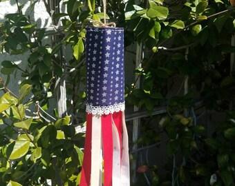 Patriotic Home Decor, Patriotic Door Hanger, Patriotic Wall Hanging, Patriotic Flag, Patriotic Windsock, Windsock