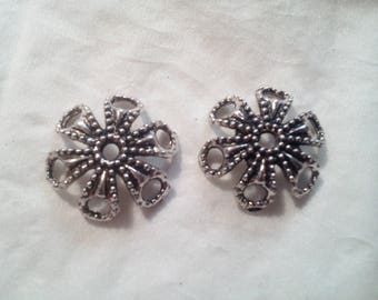 Set of 2 antique silver - 1 106 caps