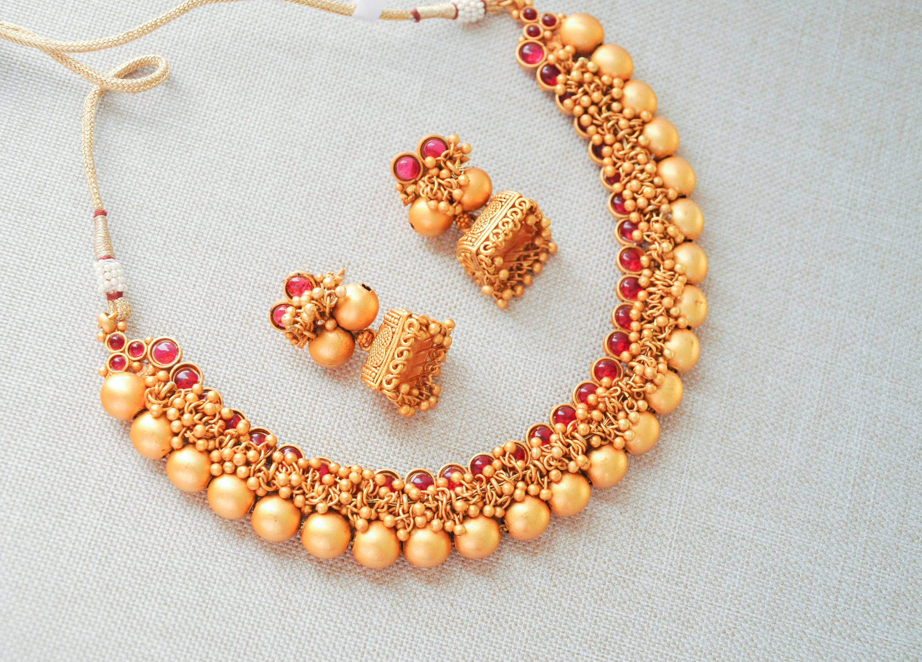 gold set taditional necklace kundan matt jewellery products antique by rani punjabi