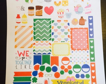We Go Together Like Weekly Planner Stickers Set, Anniversary Stickers, for use with Erin Condren Life Planner, Happy Planner