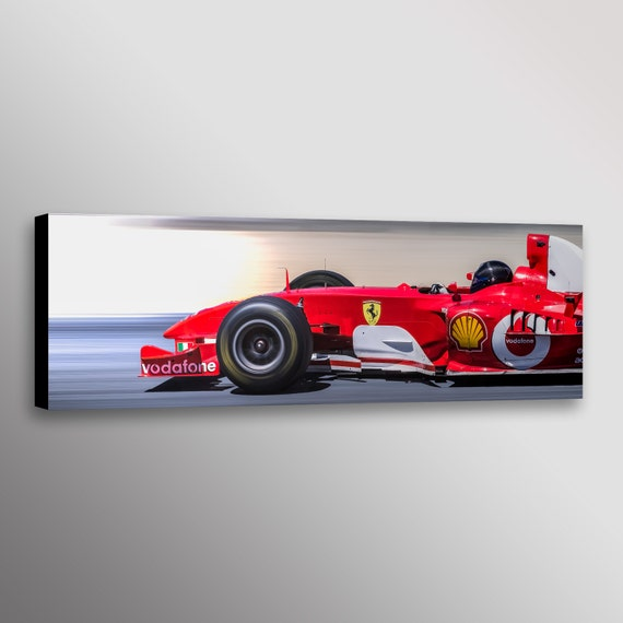 Amazing Ferrari F1 Formula 1 Racecar Photo Man Cave Car Automotive