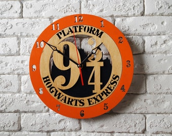 Harry Potter wall decor Clock hogwarts express ticket harry potter decorations platform 9 3 4 sign hogwarts express print poster train