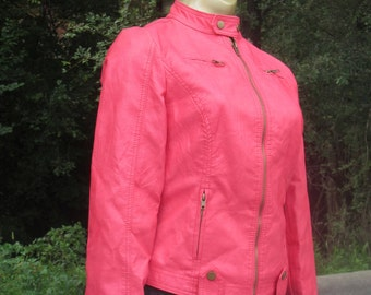 "Marezzi Apparel ""Tickle Me Pink"" Lined Lightweight Jacket, - Ultra Suede, S SM"
