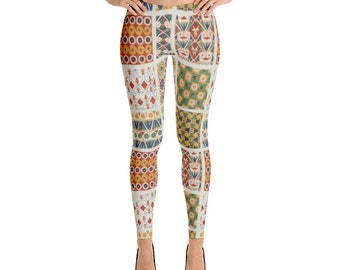 Quilt Pattern Leggings,Womens,Yoga,Workout,Tights,Pants,Stretch,Spandex,Print,Pattern,Stretchy,Clothing,Fashion,Unique,Printed,Design,Gym,Gi