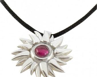 Sun Silver Pendant, necklace, jewel, jewelry
