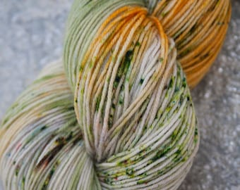 PRAIRIELAND - BFL/Nylon 75/25 superwash handdyed fingering weight speckled sock yarn 100g/464yard skein