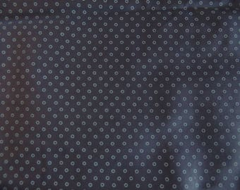 Fabric Patch with blue polka dots cotton Poplin