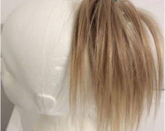 Human hair scrunchie Hairpiece mixed blonde (18/613)100% human hair 10 inches 42g