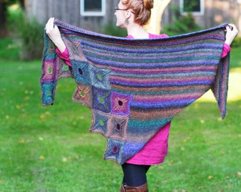 Sikuli Shawl Hand knitting Pattern digital download