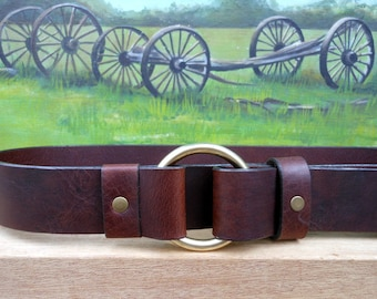 Single Ring Cinch :Leather Belt