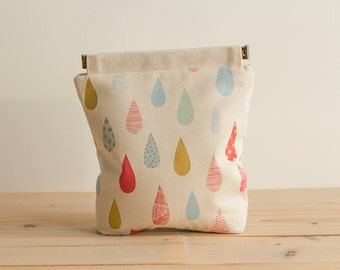 Charger case, Cosmetic pouch, Ditty bag, Make-up Case, Travel pouch / Dew drops cream